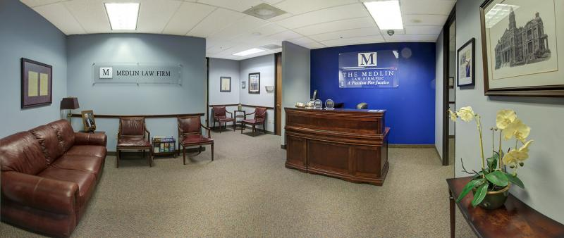 Front Reception Of The Medlin Law Firm In Fort Worth